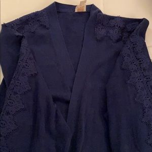 Chico's long navy sweater